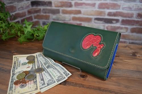 【オーダーメイド制作例】かぶせの長財布(スムースレザー)  (KA182b2)