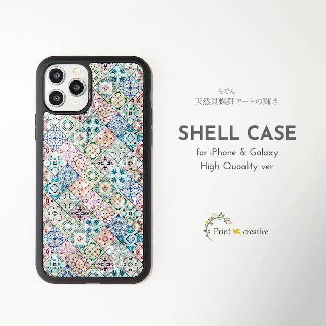 天然貝シェル★クッキーフェスティバル(iPhone/Galaxyハイクオリティケース)|螺鈿アート|iPhone12対応