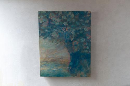 【絵画 油彩】『翡翠』 F6号 購入後すぐに飾れる