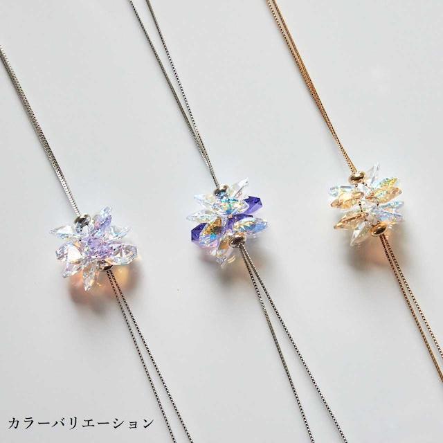 【ゴールド】スワロフスキー シャンデリア風サンキャッチャーネックレス