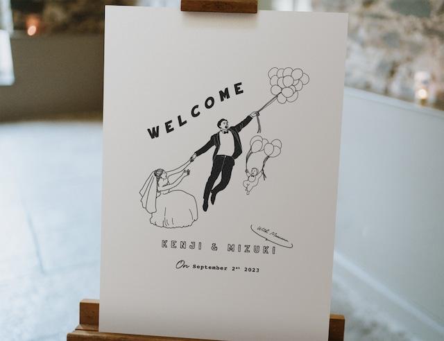 <Bride&Groom?D> ウェルカムボード