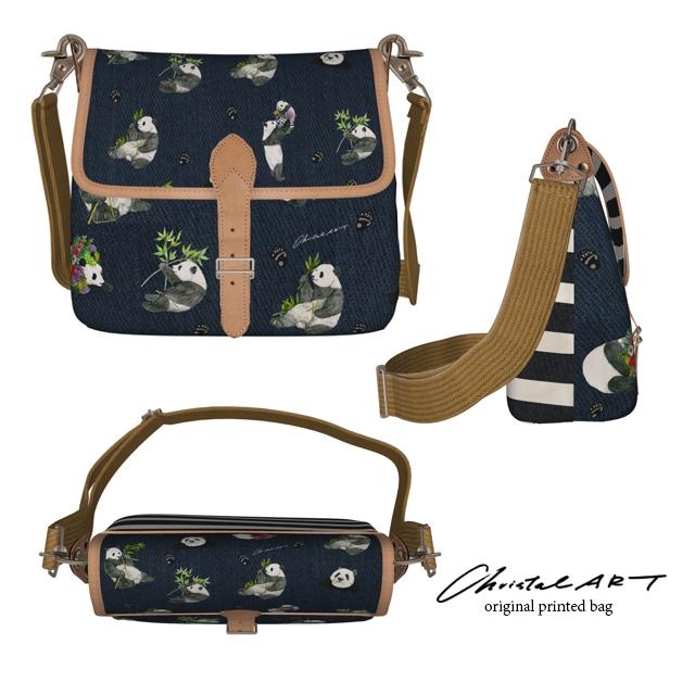 ◆受注生産◆デザインバッグ「リーリー・シンシン・シャンシャンドット柄」