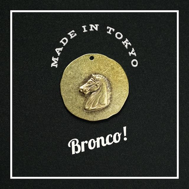 【1個】チャーム 馬 ブロンコ ペンダント(日本製、真鍮、無垢)