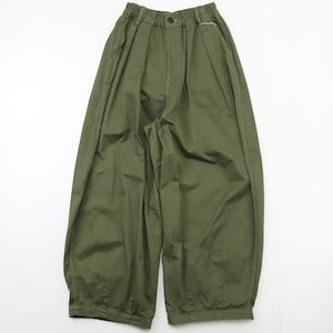 【HARVESTY】CHINO CIRCUS PANTS (MILITARY GREEN) (UNISEX) サーカスパンツ ユニセックス 日本製 ハーベスティ