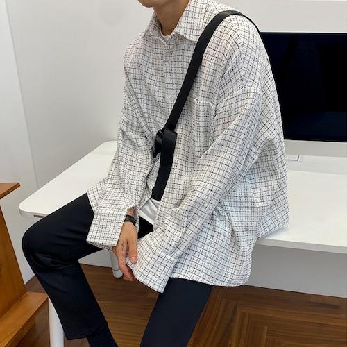 ドロップショルダーチェックシャツ BL7974