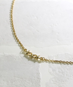 YKHN17040701【YArKA/ヤーカ】silver925 star jewelry collecttion 3star simple necklace [chast4]/スタージュエリーコレクション 3スターシンプルネックレス