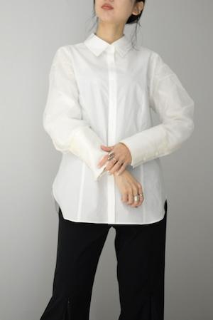 ROOM211 / See Through Sleeve Shirt (white)