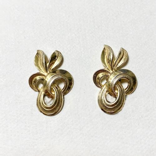 Vintage Forstner Sterling Ribbon Earrings