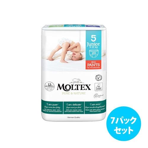 [7パックセット] Moltex Nature No. 1 紙おむつパンツ(サイズ 4~6)