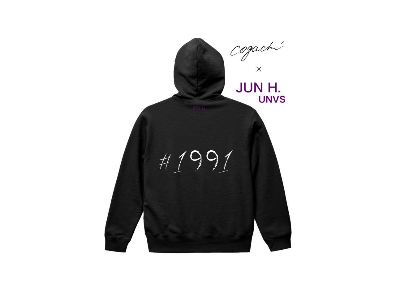 JUN H. (UNVS) Special Edition Collection 1991 zip hoodie (BLK/WH/PUR)