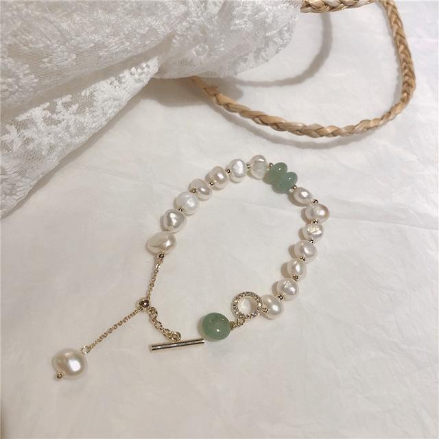 ブレスレット レディース 大粒 大人 可愛い 真珠スタイル MY9014