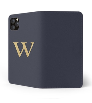 iPhone Premium Smooth Leather Case (Midnight Blue) : Book Cover