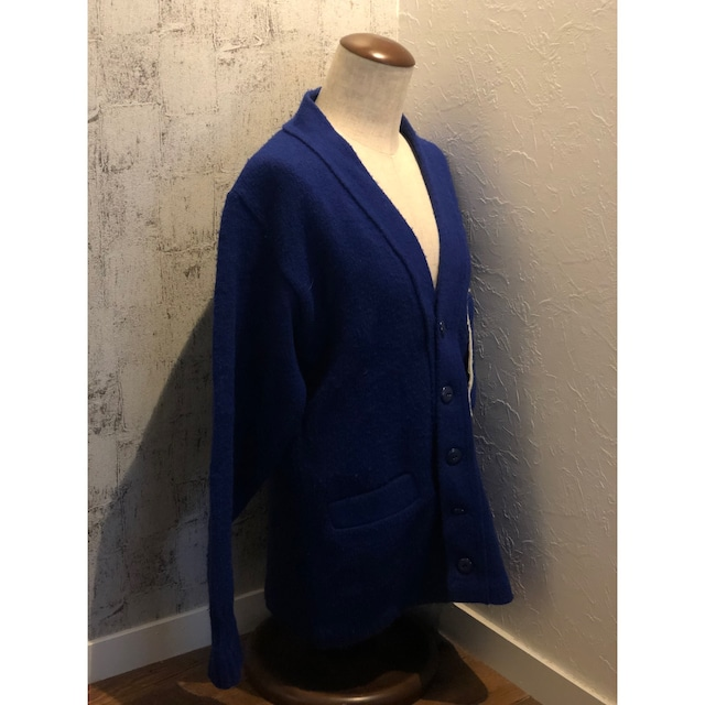 """USA """"AMF""""70s~80s knit cardigan"""