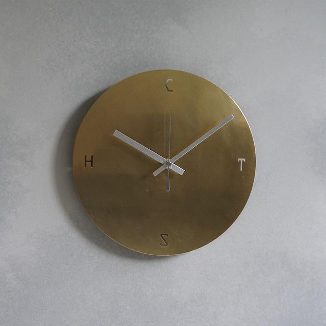 時計:真鍮ヘアライン