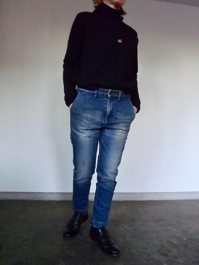Women  {CL005-5500}  Denim trouser  {Ocean wash}  デニムトラウザー ストレッチ,ブルージーンズ,日本製, 岡山デニム