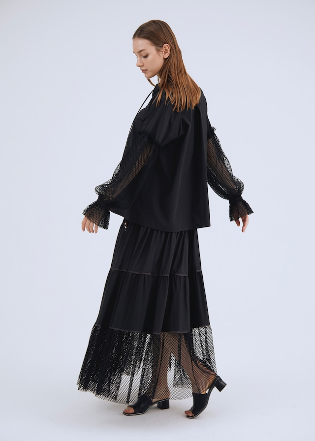 1TONE MIX TIERED SKIRT