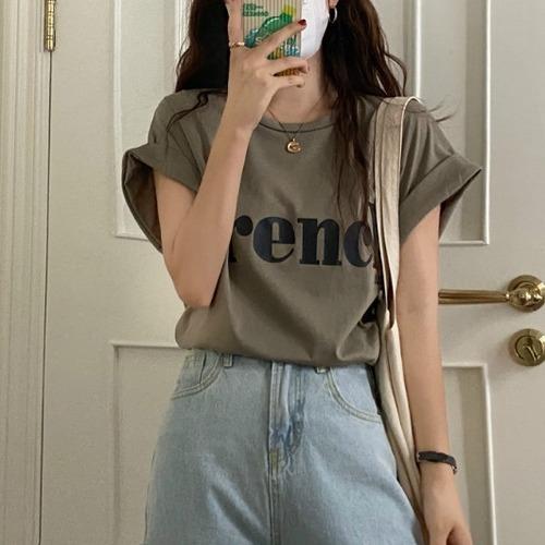 ルーズスリーブFrenchロゴTシャツ U6034