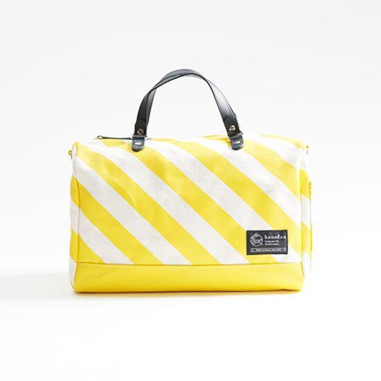 mini duffle bag / sky ミニダッフルバッグ / 蒲公英 x 縞・鱗・水玉