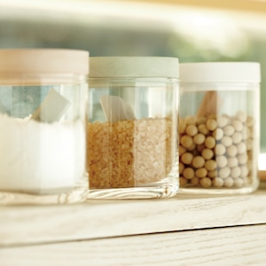 FOOD CONTAINER glass soil