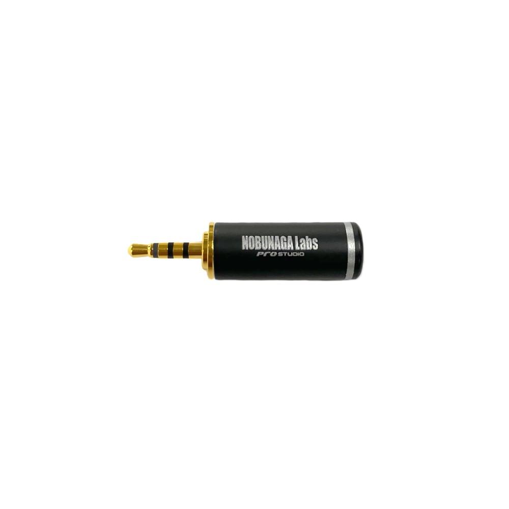 【まとめ買い 5セット 10%割引】2.5mm4極プラグ 金メッキ NLP-PRO-TP2.5/4  :: NOBUNAGA Labs pro studio