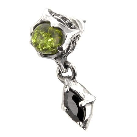トレサリーグリーンアンバーピアス ACSE0022 Treasury Green Amber Earrings