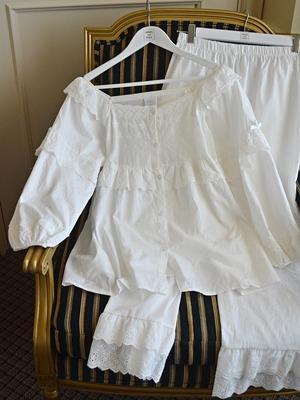 race Ruffle Square Neck pajamas