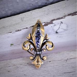 fleur-de-lis Gold Brooch  フルール・ド・リス ゴールドブローチ
