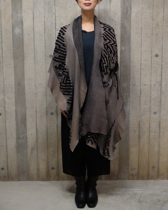 LEATHER CORNICE PONCHO  [MADE IN JAPAN][税/送料込]
