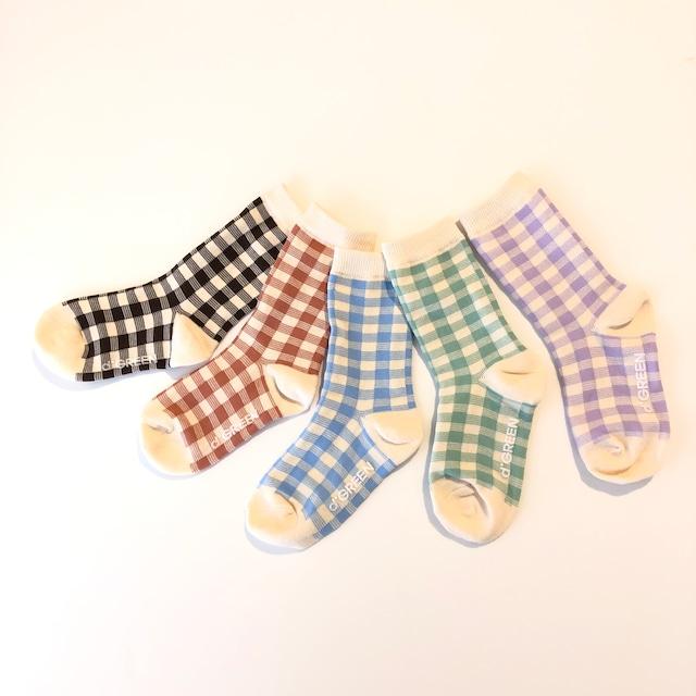 dgreen ( ディグリーン) Natural check socks チェック ソックス