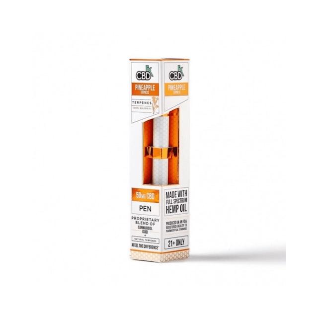【送料無料】CBDfx - CBDリキッドテルペン使い捨てベイプペン50mg:パイナップルエクスプレス