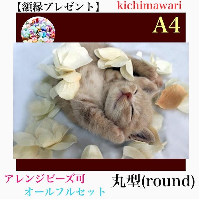 A4サイズ 丸ビーズ(round)【r10487】額縁プレゼント付き♡フルダイヤモンドアート
