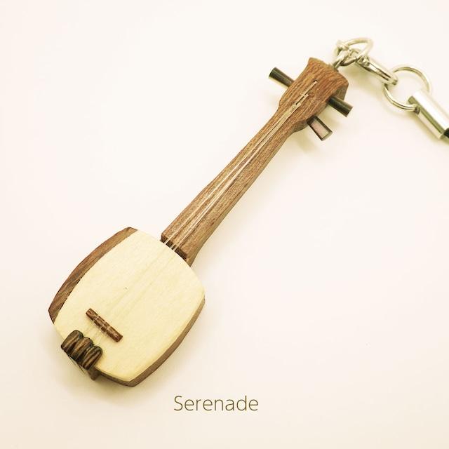 【人気】三味線 木製和楽器ストラップ