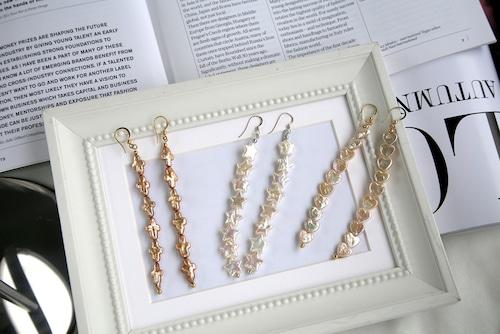 Freshwater pearl earrings 3type