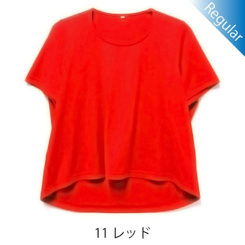 半袖丸首Tシャツ / 11レッド / 身長152cm→142cm / アイラブグランマ・スムースネック / 型番TC02-152