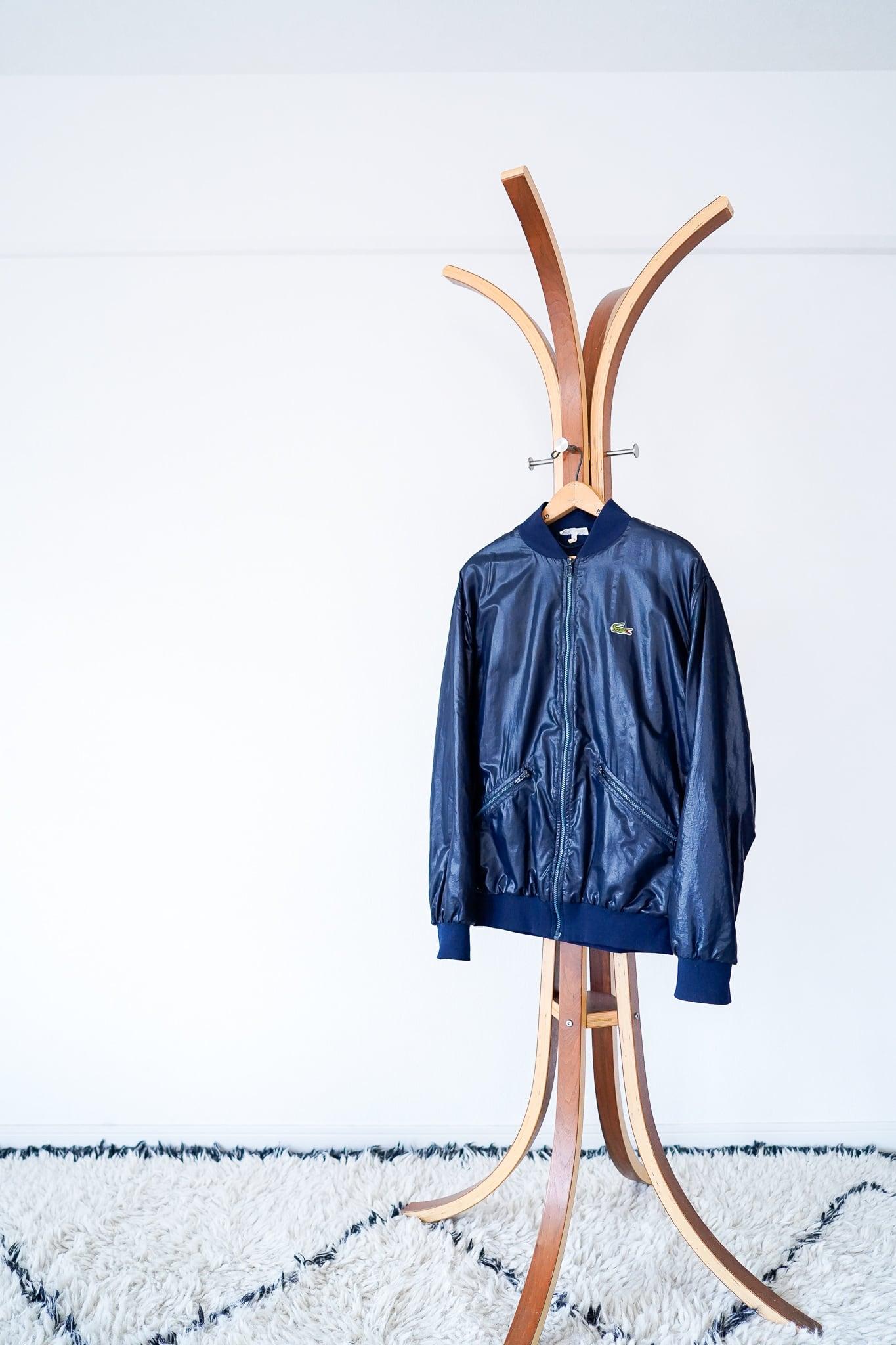 """【1970s】""""French LACOSTE"""" Zip-up Nylon Blouson / v513y"""