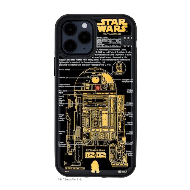 FLASH R2-D2 基板アート iPhone 12 / 12 Pro ケース 黒【東京回路線図A5クリアファイルをプレゼント】