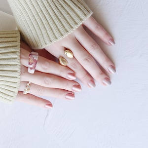 SET RINGS || 【通常商品】 BLOSSOMS CLEAR RING 3 SET D || 3 RINGS || MIX || FBB049