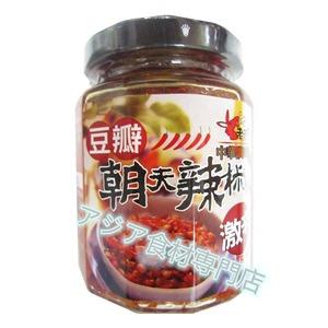 【常温便】老騾子朝天豆瓣辣椒(トウバンジャン・大豆入り激辛調味料)