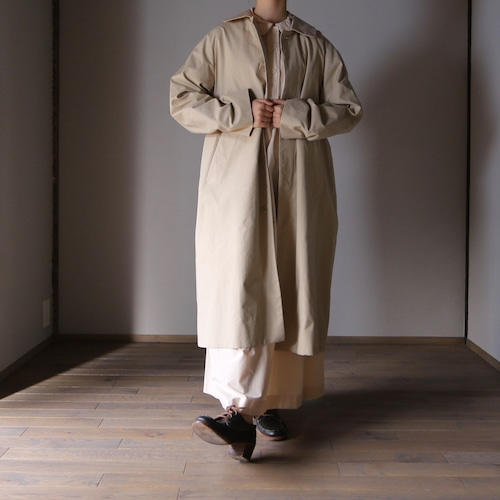 YAECA/ヤエカ ステンカラーコート スタンダード BEIGE #61502