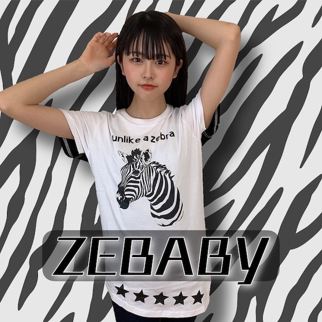ZEBABY ASYMMETRIC ZEBRA T-SHIRT (税込み)
