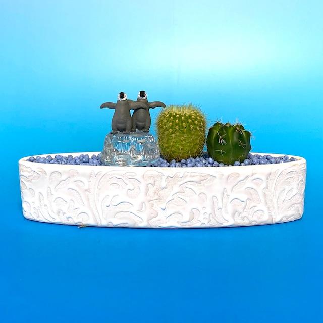 【受注生産品】su-02bbabypengin 赤ちゃんペンギン 観葉植物 夏 さぼてん カクタス インテリア グリーン ミニチュア かわいい 動物 フィギュア