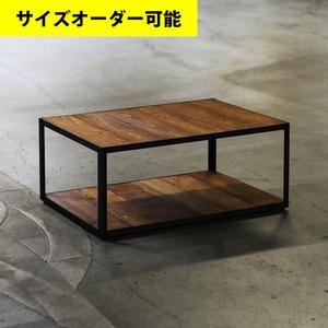 IRON FRAME LOW TABLE[TEAK COLOR]サイズオーダー可
