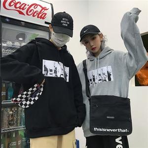 【トップス】カジュアルフード付き配色長袖パーカー43011189