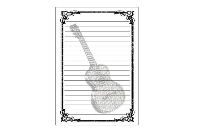 ギターのレターセット