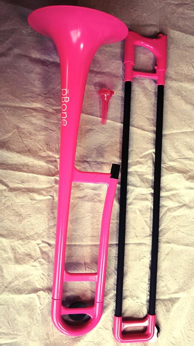 プラスチックトロンボーンpBone ピンク(1点限り)