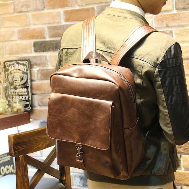 リュックサック レザー 革 メンズ  デイバッグ バックパック 通勤 通学bag-158