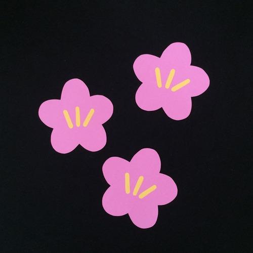 梅の花(ピンク)の壁面装飾