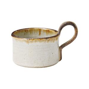 信楽焼 へちもん スープ マグ 約360ml ホワイトタグ MR-3-3315