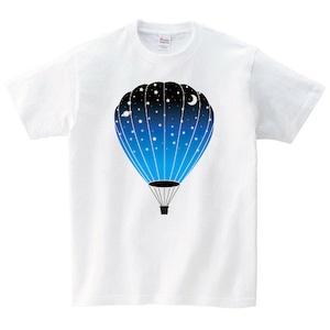 気球 Tシャツ メンズ レディース 半袖 宇宙 かわいい ゆったり おしゃれ トップス 白 30代 40代 ペアルック プレゼント 大きいサイズ 綿100% 160 S M L XL