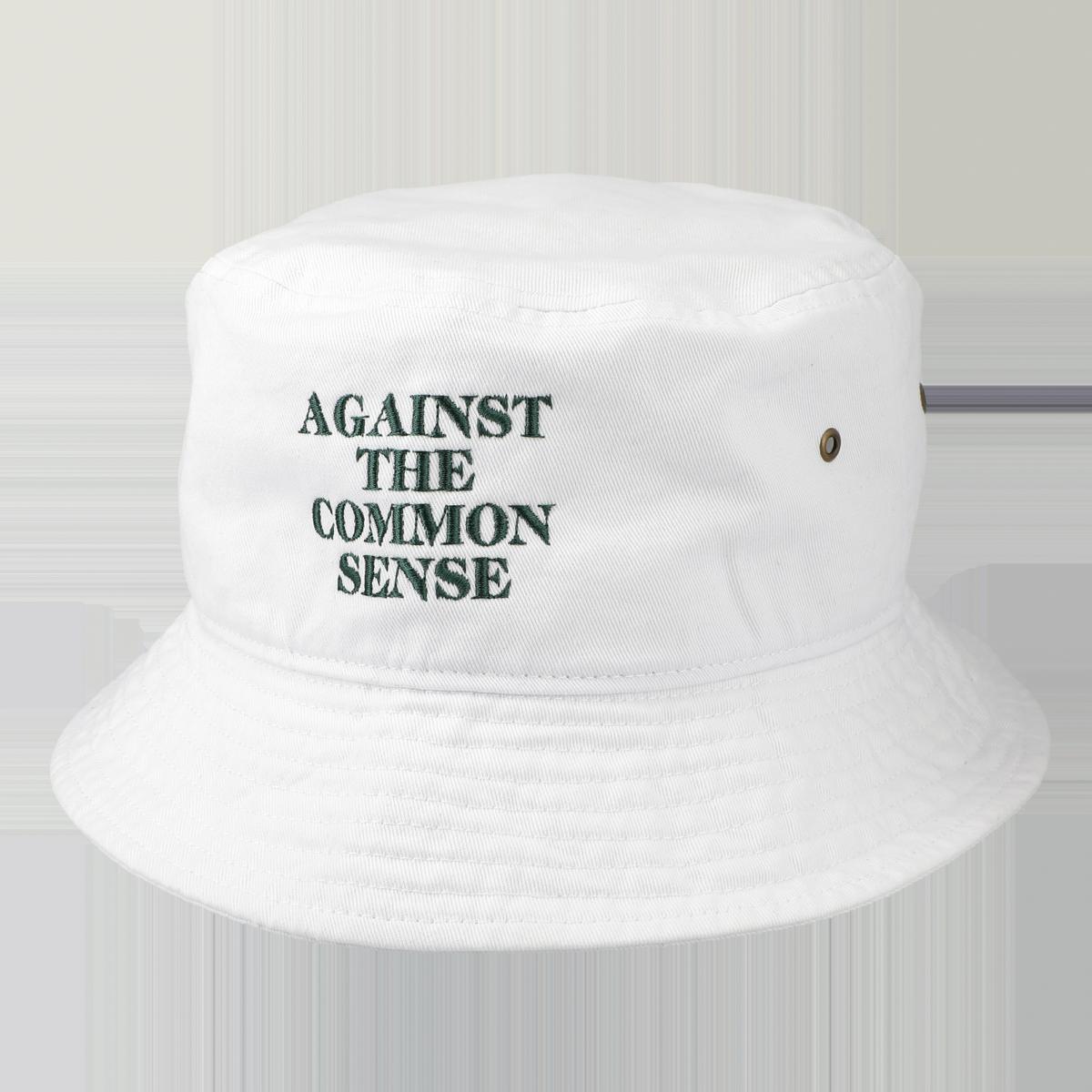 AGAINST LOGO HAT / White